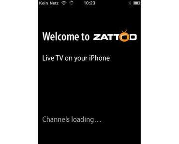 Zattoo für iPhone