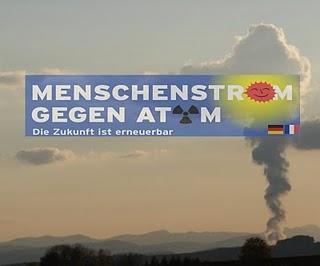 MenschenStrom gegen Atom an der Aare