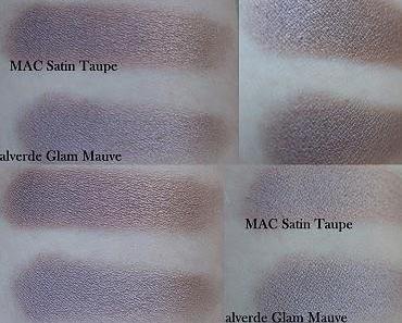 Vergleich MAC Satin Taupe + alverde Glam Mauve