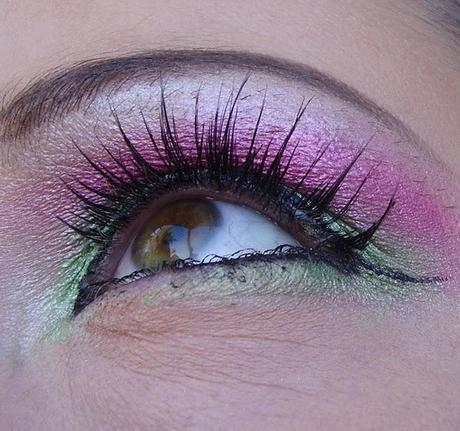 Green-PINK-Look - MAC Pigments, Dolly Wink Lashes Wimpern