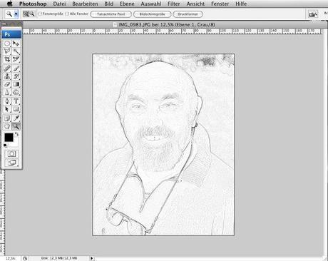 Fenster bleistiftzeichnung  Photoshop Tutorial – Bleistift Zeichnung erstellen