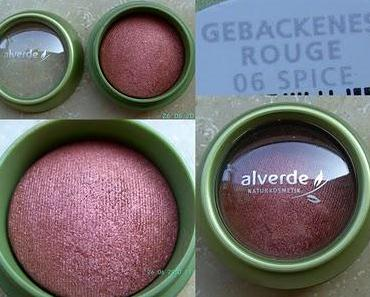 "Review alverde gebackenes Blush ""Spice"" + Swatches alle Blushes"