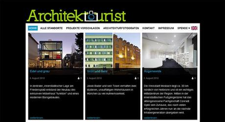 Screenshot der Website Architektourist