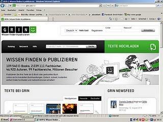 Wissen finden und publizieren beim GRIN Verlag