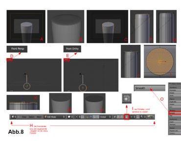Fehler am Modell mit der Kamera suchen, die Kamera an das Objekt heranfahren