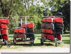 Kanu fahren auf der Diemel im Weserbergland