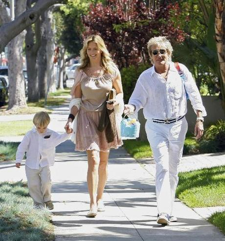 Rod Stewart seen with his wife Penny Lancaster-Stewart and their son Alastair leaving a church in Santa Monica on Easter Sunday. 4/12/09 ©NED/Finalpixx.com 310-728-0680 sales@finalpixx.com Photo via Newscom Photo via Newscom