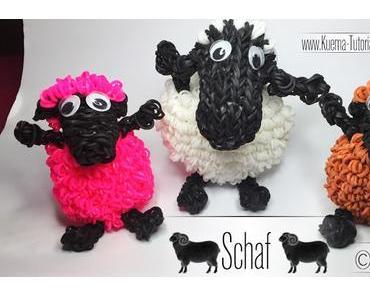 Rainbow Loom - Shaun das Schaf / Sheep ( Eng Sub)