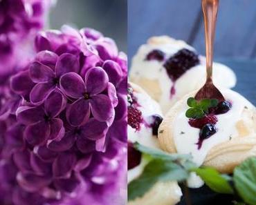 Mini Pavlovas mit Joghurt und Beeren