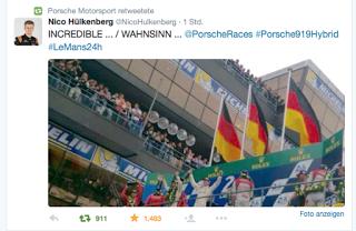 Porsche gewinnt mit Vorsprung durch Technik
