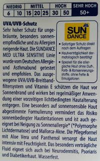 Sun Dance Med ULTRA SENSITIVE SONNENFLUID