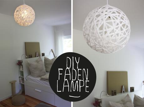 diy bast lampe perfekt rund schnur faden lampe. Black Bedroom Furniture Sets. Home Design Ideas