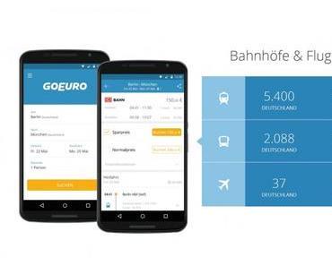 GoEuro App sucht euch die beste Bahn & Bus Verbindung
