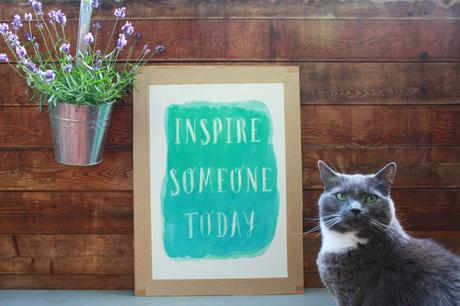 Zitat Inspire Someone Today