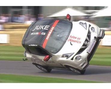 Neuer Weltrekord im Autofahren auf zwei Rädern