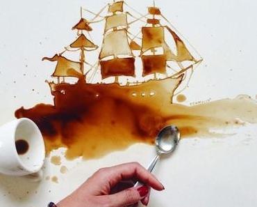 Kunstwerke aus Kaffee und Marmelade von Giulia Bernardelli