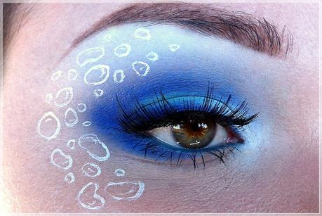 Sailor Merkur inspiriertes Make Up