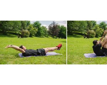 Outdoor Bauch Workout mit der Apple Watch