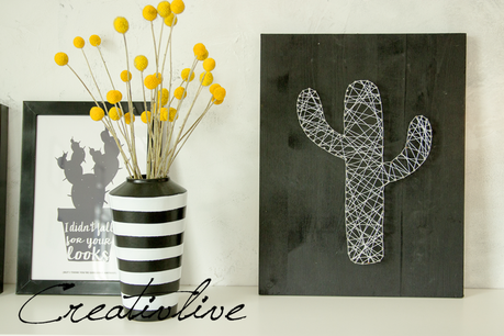 Diy nagel fadenbild kaktus und ein kissen for Nagelbilder vorlagen