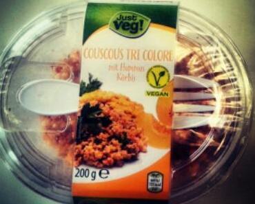 Couscous Tri Color mit Humus und Kürbis von JUST VEG!