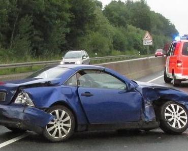 Schwerer Verkehrsunfall B54