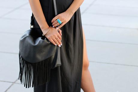OUTFIT: THE BLACK CUT OUT MAXI SKIRT