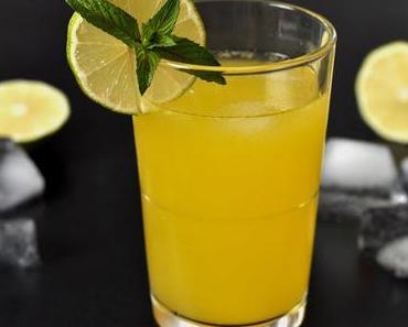 Wir retten Sommerdrinks - hier: Maracuja-Minz-Schorle