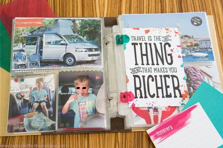 Stampin Up Project Life Auf und davon Campingbus