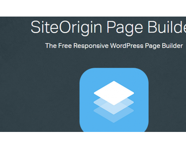 #WordPress Plugin – Page Builder von SiteOrigin