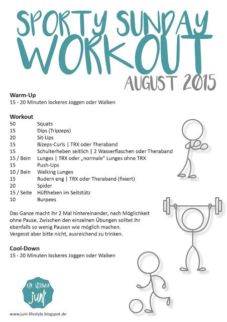 [JuNi] Sporty Sunday Workout | August 2015 {JuNiFit}