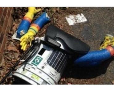 Trampender Roboter Hitchbot zerstört