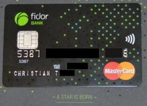 Fidor SmartCard® – Die 3-in-1 Karte zum Konto