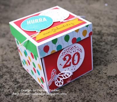 Explosionsbox zum 20 geburtstag - 20 geburtstag geschenk selber machen ...
