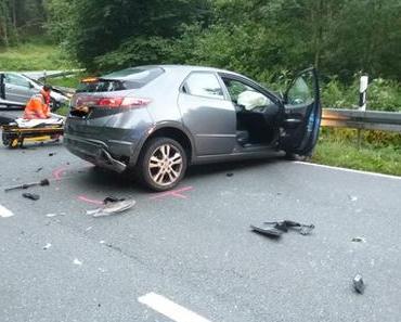 Schwerer Verkehrsunfall Sieker – Zwei Schwerverletzte