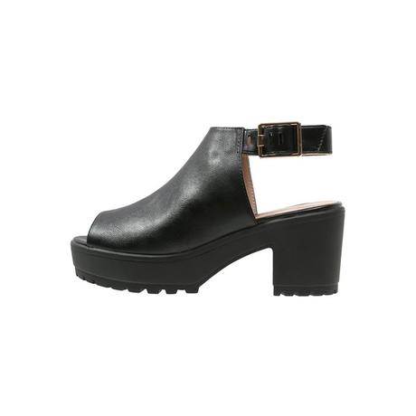 Topshop BAT Plateausandalette black