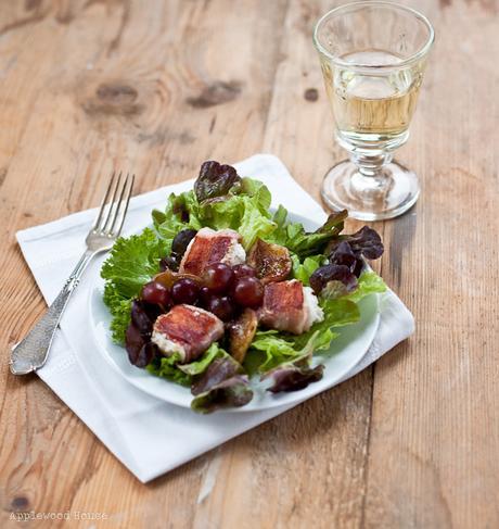 mit speck f ngt man m use und mit einem salat mit gegrillten bacon ziegenk se p ckchen. Black Bedroom Furniture Sets. Home Design Ideas