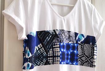 diy t shirt n hen f r anf nger upcycling oberteil crop. Black Bedroom Furniture Sets. Home Design Ideas