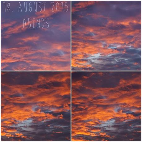Blog & Fotografie by it's me! - Abendrot am 18. August 2015