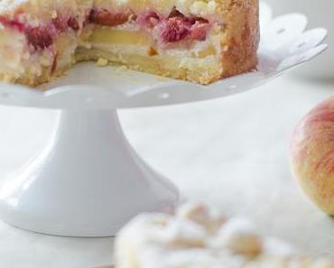{#ichbacksmir} Apfel-Pflaumen-Streuselkuchen (vegan)
