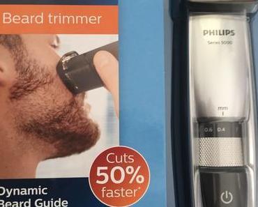 """Klare Kante: Der Philips Bartschneider trimmt den Bart in """"einem Zug"""""""
