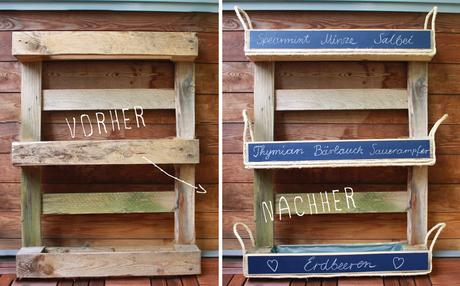 diy mini kr uter garten aus palette. Black Bedroom Furniture Sets. Home Design Ideas