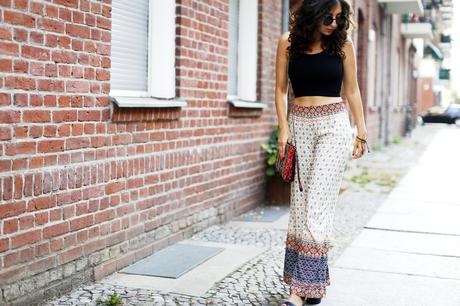 Boho Pants Hippie Pants wide Leg Palazzo Pants City Look Blogger Samieze Fashionblogger Outfitpost