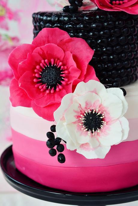 pinke anemonen torte unwired anemones. Black Bedroom Furniture Sets. Home Design Ideas
