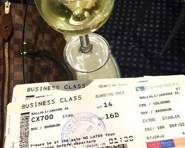Ausgeschlafen nach Bangkok in der Cathay Pacific Business Class