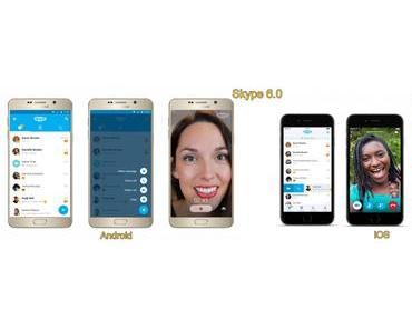 Skype 6.0 für Mobilgeräte unter iOS und Android