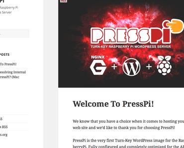 Raspberry Pi: Wie kann WordPress mit Datenbank (MySQL) und Server (Nginx) vorkonfiguriert installiert werden? Mit PressPi!