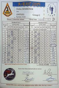 Scorecard Unmarked Animal Round 1