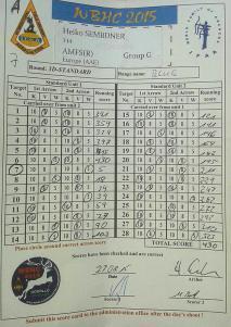 Scorecard Standard Round