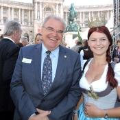 Maria mit Justizminister Wolfgang Brandstetter