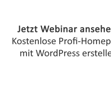 Kostenlose Homepage mit WordPress erstellen